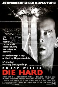 Another classic DIE HARD poster, this time featuring an explosion.