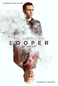 Looper. JGL and Bruce Willis play mirror images of each other. See what they did there?