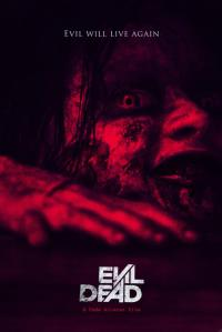 Red soaked creepy poster.